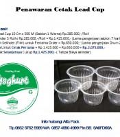 Penawaran Cetak Lead Cup